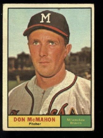1961 Topps # 271 Don McMahon  Milwaukee Braves baseball card