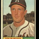 1961 Topps # 271 Don McMahon  Milwaukee Braves baseball card