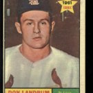 1961 Topps #338 Don Landrum RC St. Louis Cardinals rookie baseball card