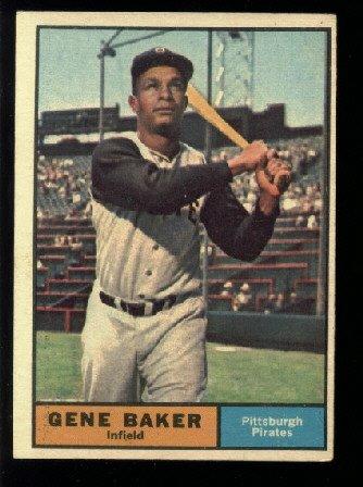 1961 Topps #339 Gene Baker Pittsburgh Pirates baseball card