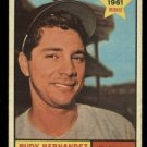 1961 Topps #229 Rudy Hernandez RC Washington Senators rookie baseball card