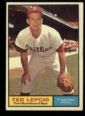 Nice 1961 Topps #234 Ted Lepcio Philadelphia Phillies Baseball card