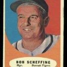 1961 Topps #223 Bob Scheffing Detroit Tigers baseball card