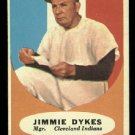 1961 Topps #222 Jimmie Dykes Cleveland Indians baseball card
