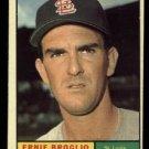 1961 Topps #420 Ernie Broglio St. Louis Cardinals baseball card