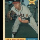 1961 Topps #496 Ken MacKenzie RC Milwaukee Braves rookie baseball card