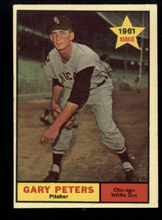 Nice 1961 Topps #303 Gary Peters RC Chicago White Sox rookie baseball card