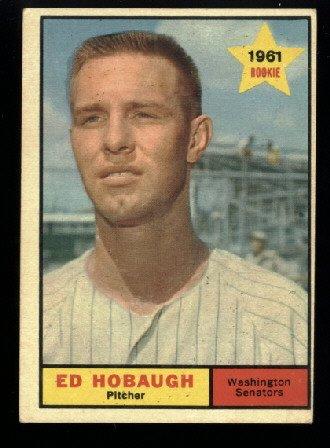1961 Topps #129 Ed Hobaugh RC Washington Senators rookie baseball card