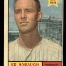 1961 Topps #129 Ed Hobaugh RC Washington Senators rookie baseball card