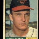 1961 Topps #125 Steve Barber Baltimore Orioles baseball card