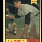 1961 Topps #124 J. C. Martin RC Chicago White Sox rookie baseball card