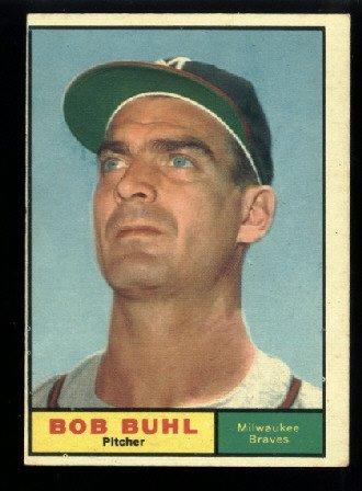 1961 Topps #145 Bob Buhl Milwaukee Braves baseball card