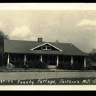 Marion County Cottage real photo postcard Jackson's Mill, West Virginia