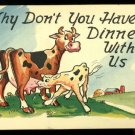 Plastichrome signed H. Dean P55275 Why Don't You Have Dinner With Us
