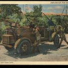 Anti-Aircraft Fire from Scout Car  Unused linen postcard C. T. Art - Colortone