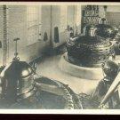 Real photo  postcard of 1920's turbine equipment room  unused AZO