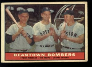 1961 Topps #173 Beantown Bombers baseball card  Malzone - Wertz - Jensen