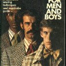 SEWING For MEN and BOYS    Simplicity's vintage 1973  how to book of illustrated sewing techiques