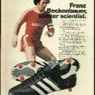 Adidas World Cup '78 soccer shoe magazine ad with Franz Beckenbauer