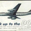 Original 1959 Douglas DC-8 color magazine ad   Look up to the DC-8