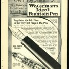 Original 1916 Ad for Waterman's Ideal Fountain Pen