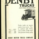 1916 Denby Trucks Ad      For trail or pavement    Original