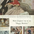 1950 Swiss Watch Ad  The watchmakers of Switzerland    Happy Birthday