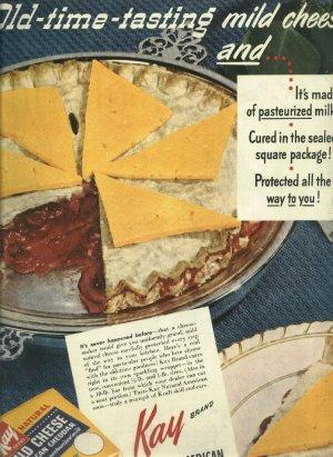 1950 ad KAY natural mild cheese
