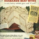 1950 Ad Betty Crocker Cake Mixes     Husbands Beat Wives