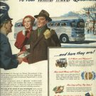 Greyhound bus Lines original 1950 ad      Answers to your winter travel questions