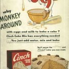 1950 ad Cinch cake mix    Why Monkey Around