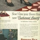 1950 ad  Kentile   rubber tile  Cushioned Beauty  David E. Kennedy, Inc.