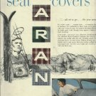 SARAN seat covers 1950 magazine ad  National Plastic Products Company