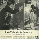 1950 Ni-Rod Nickel welding rod magazine ad   Welder repairing cast iron furnace