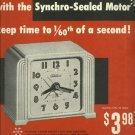 1950 Telechron electric clock magazine ad  Keep Time to 1/60th of a second