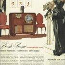 1950 Zenith tv radio magazine ad   There's Black Magic in the Blaxide Tube