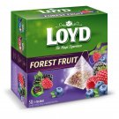 LOYD Forest Fruit Flavored Tea Box - 50 Silk Pyramids Teabags