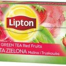 6 x Lipton Green Tea Red Fruits Strawberry & Raspberry Flavor 25 Teabags