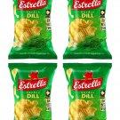 4 x ESTRELLA Garden Dill Flavor Potato Chips Snacks Crisps 180g 6.3oz