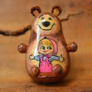 Handmade Gift for a child Russian musical toy Masha and the bear Exclusive