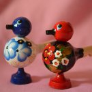Whistle Children's toy Gift Russian souvenir Khokhloma and Gzhel painting