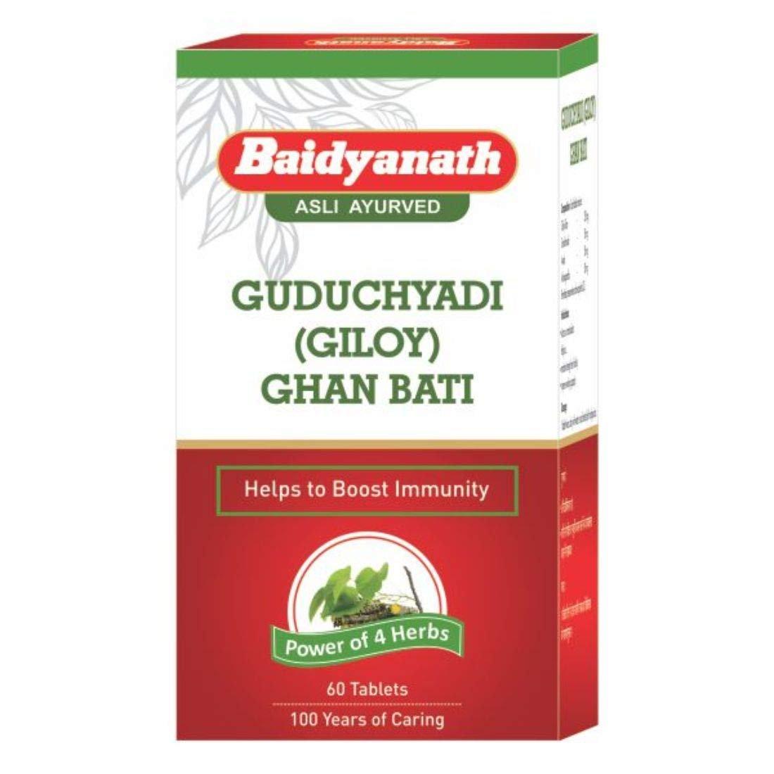 Baidyanath Guduchyadi Ghan Bati I For Vitality I Immunity Booster I 60 Tablets