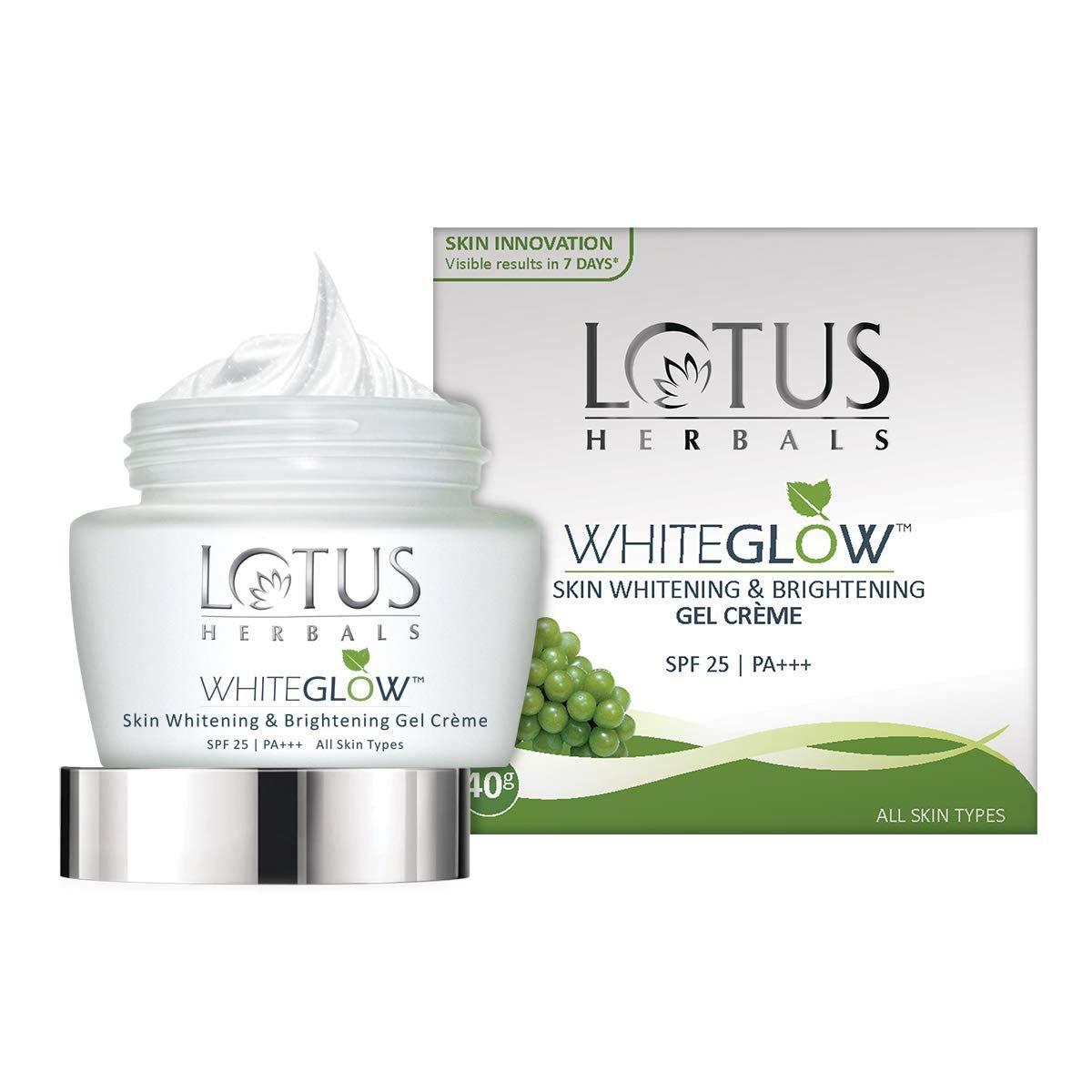 Lotus Herbals WhiteGlow Skin Whitening And Brightening Gel, Face Cream