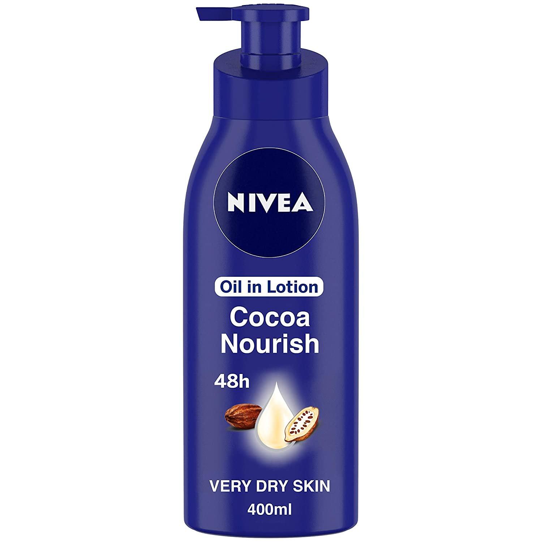 NIVEA Body Lotion for Very Dry Skin, Cocoa Nourish, with Coconut Oil 400ml