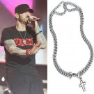 22 Inch Men 316 Stainless Steel Silver Cross Double Chain Necklace