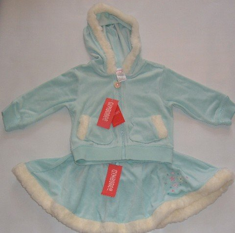 NWT Gymboree 3T PRINCESS SNOW DROP 2 pc FAUX FUR set