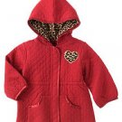 NWT gymboree 5T GLAMOUR KITTY red QUILTED JACKET coat LEOPARD