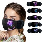 Winter Mask Butterfly Print Warm Hair Ball Hanging Ear Mask mascarillas masque lavable face-mask