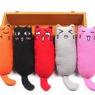 1Pc Mini Cute Pet Plush Toys Claws Thumb Bite Cat Mint Scratcher Teeth Grinding Catnip Cat Toy