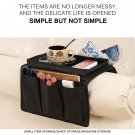 Sofa Armrest Organizer With 4 Pockets And Cup Holder Tray Couch Armchair Hanging Storage Bag